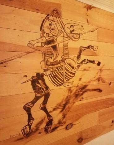 Skeleton on Horse