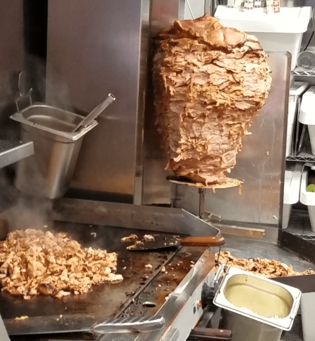 Al Pastor Cooking at El Grito -Dublin, Ireland