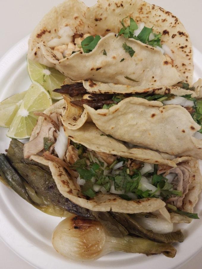 Tacos from Azteca Taqueria in Union City, NJ