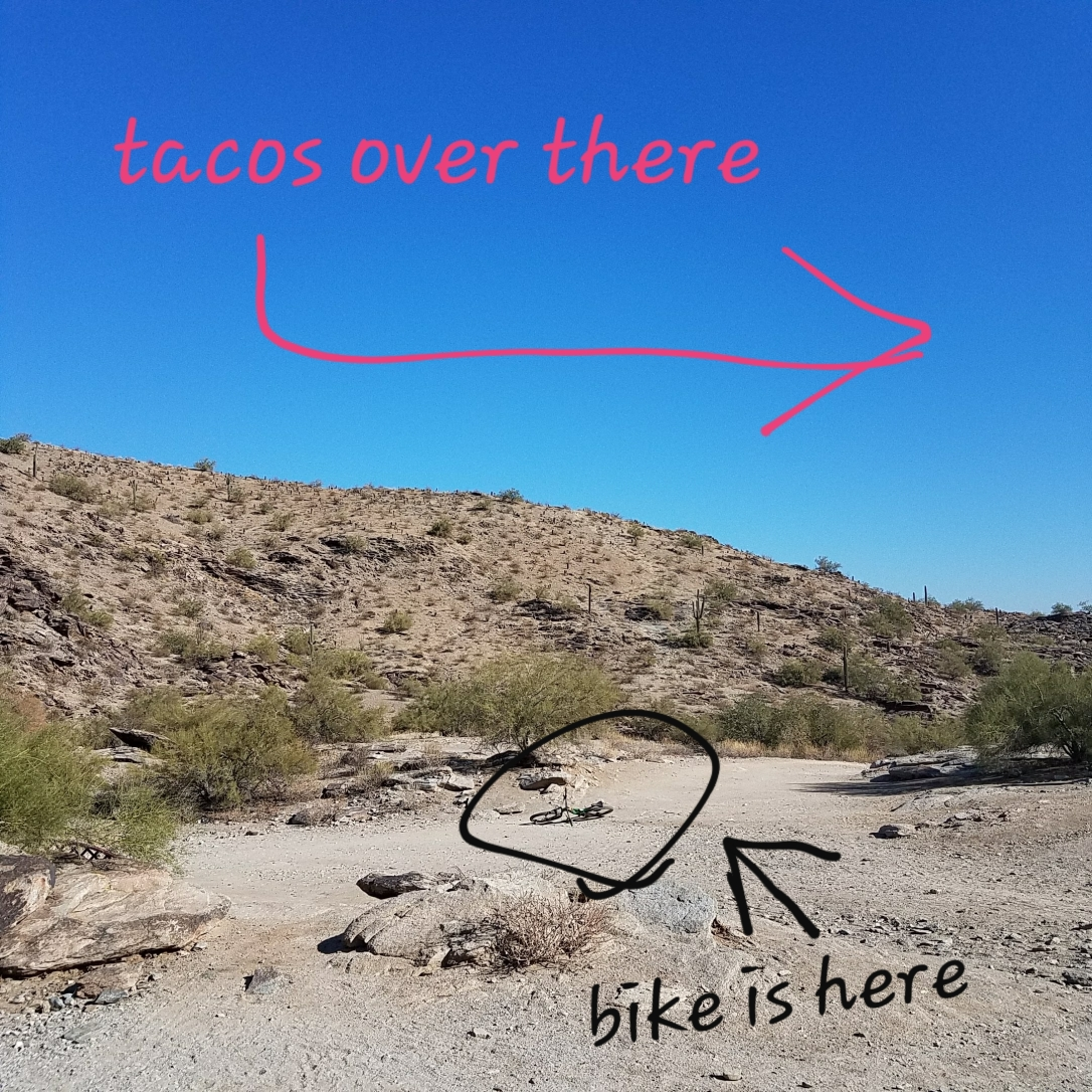 Mountain Biking then Tacos