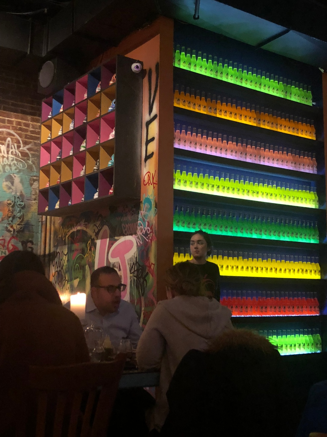 Wall of Jarritos Sodas - Orale Mexican Kitchen - Jersey City