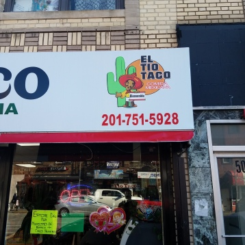 The store front of El Tio Taco in West New York, NJ