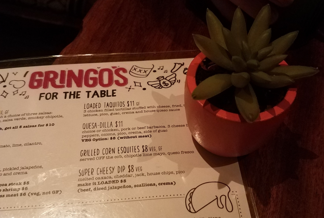Menu & Decor at Gringo's Tacos - Jersey City