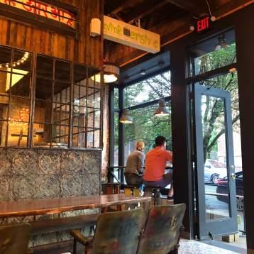 Dining Area inside Tacoria - Jersey City