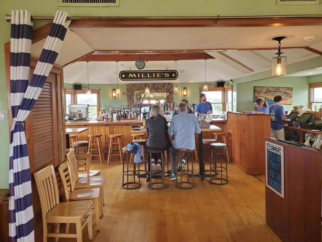 Upstairs bar at Millie's Nantucket