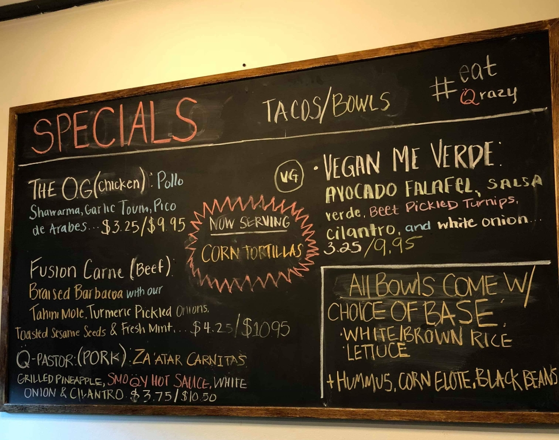 Loquito - Labanese Tacos - Menu at Hoboken, New Jersey