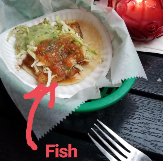Fish Tacos at La Taqueria Downtown Jersey City, New Jersey
