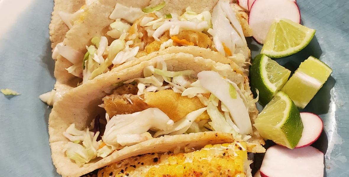 Beer Battered Cod Fish Tacos