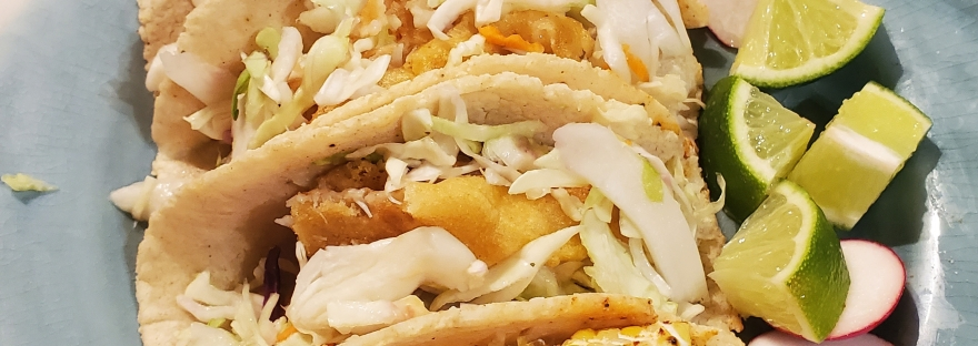 Beer Battered Cod Fish Tacos