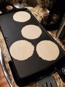 Cooking Freshly Made Tortillas