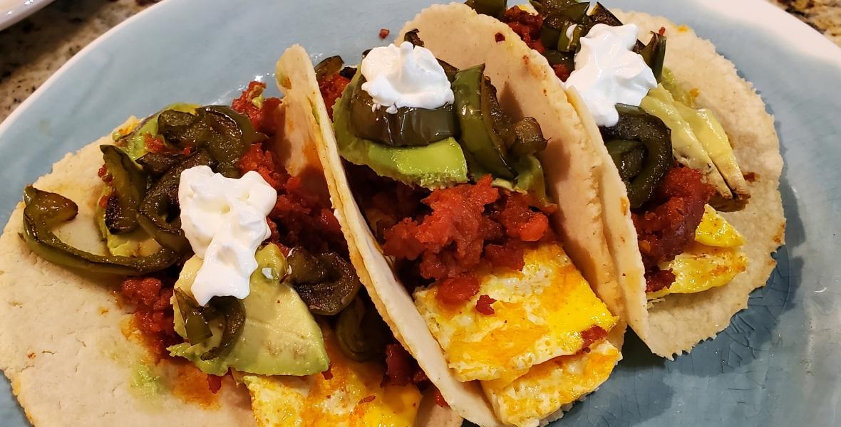 Egg & Chorizo Tacos